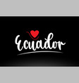ecuador country text typography logo icon design vector image vector image