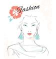Fashion portrait of sensual woman vector image vector image