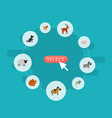 flat icons kitty horse moose and other vector image vector image