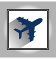 Flat plane icon vector image vector image