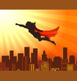 flying girl superhero vector image