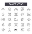 games line icons for web and mobile design vector image vector image