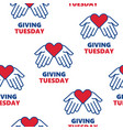 giving tuesday helping hand with heart shape vector image vector image