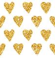 Golden Heart Glitter Background vector image vector image