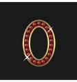 Golden zero symbol vector image vector image