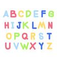 Handwritten doodle english alphabets