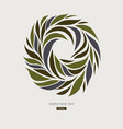 logo design from petals leaves abstract round vector image