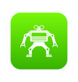 machine icon digital green vector image vector image