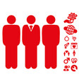 managers icon with dating bonus vector image vector image