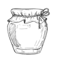 Mason jar freehand pencil drawing vector image vector image