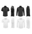 men clothes tshirts shirts apparel mockup vector image