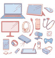 modern electronic devices and accessories set vector image