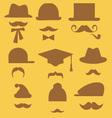 mustache 2 vector image vector image