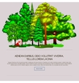 Nature landscape design elements isolated with vector image vector image