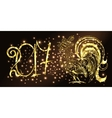 Rooster New Year Background vector image