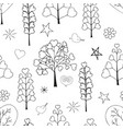 seamless pattern made from floral objects vector image