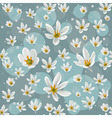 Seamless pattern with white zephyranthes flowers vector image vector image