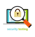 security testing software development process vector image vector image
