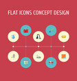 set of hygiene icons flat style symbols with drop vector image