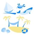 set of icons with vocation and sea themes vector image vector image