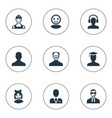 set of simple avatar icons vector image