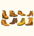 set of warm female half-boot vector image