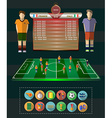 Soccer Match Statistics vector image