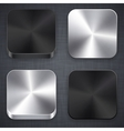 Square metallic app template icons vector