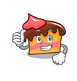 thumbs up sponge cake character cartoon vector image vector image