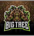 tree esport mascot logo design vector image vector image