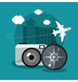 Vacations and travel design vector image vector image