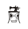 vintage sewing machine logo vector image vector image