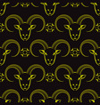 yellow ram head seamless pattern vector image vector image