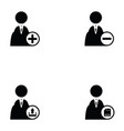 business man icon set vector image