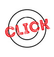 click rubber stamp vector image