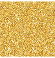 Golden Glitter Background - seamless pattern vector image