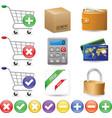 web shop icon set vector image