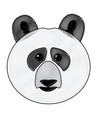 cute face panda bear animal cartoon vector image