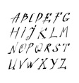 Hand drawn letters rustic style alphabet vector image