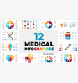 12 medical infographic templates for your vector image