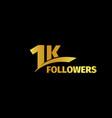 1k followers 1000 vector image