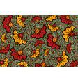 african wax print fabric ethnic overlap flowers vector image vector image