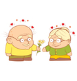An old couple in love vector image vector image