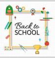 back school background vector image vector image