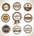 bakery retro brown badges