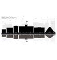 belmopan belize city skyline black and white vector image vector image