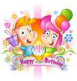 birthday congratulations vector image vector image