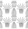 black and white seamless pattern of ornamental vector image vector image