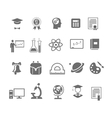 Black and white silhouette school education icons vector image vector image