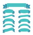 blue ribbon banners set beautiful blank decoration vector image vector image